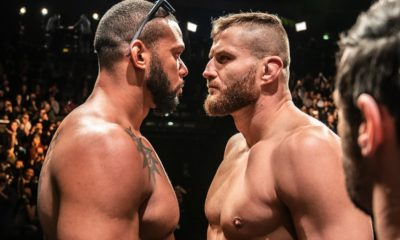 Blachowicz and Santos face off at the UFC Prague weigh-ins
