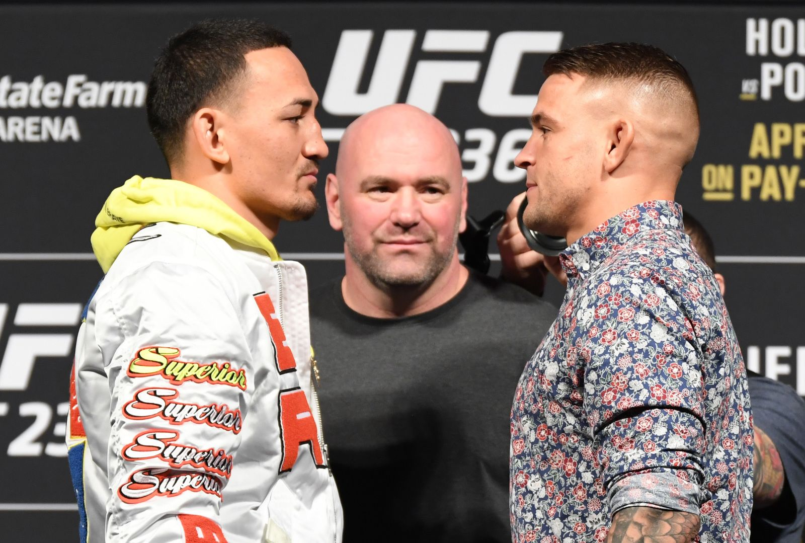 Holloway and Poirier face off