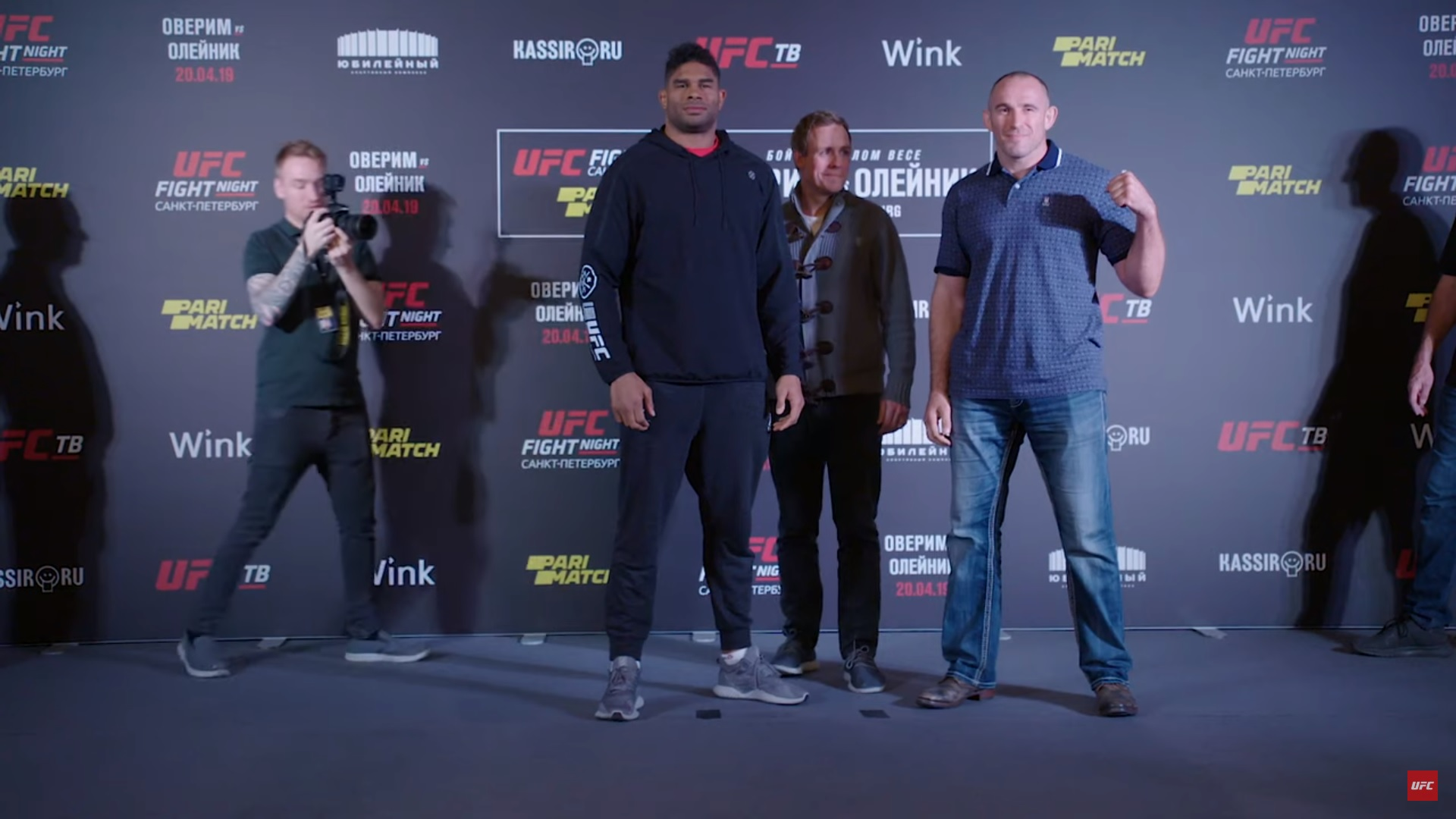 Overeem and Oleinik face off for the media